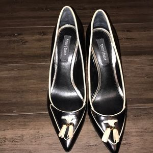 White House Black Market Black Heels Size 7